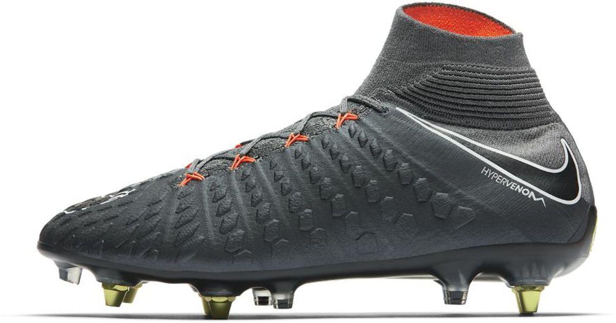 6e17cd0f5 Nike Hypervenom Phantom Iii Elite Dynamic Fit Anti-clog Sg-pro Soft-ground  Soccer Cleats in Gray for Men - Lyst
