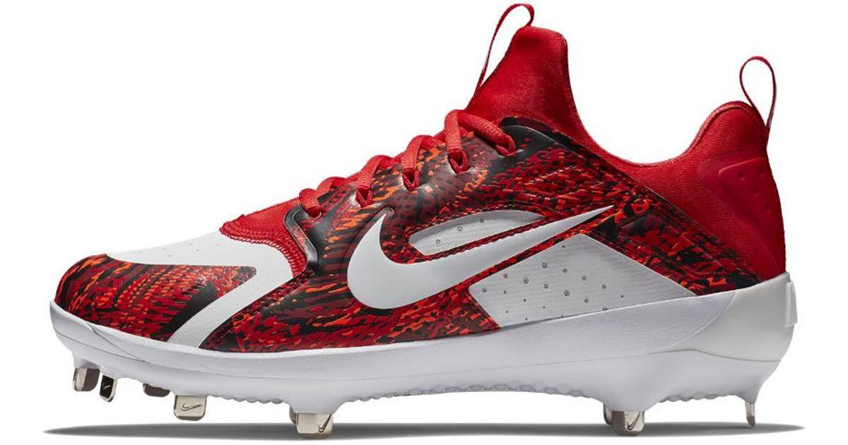 Lyst - Nike Alpha Huarache Elite Low Men s Baseball Cleats in Red for Men 45319e6187a0