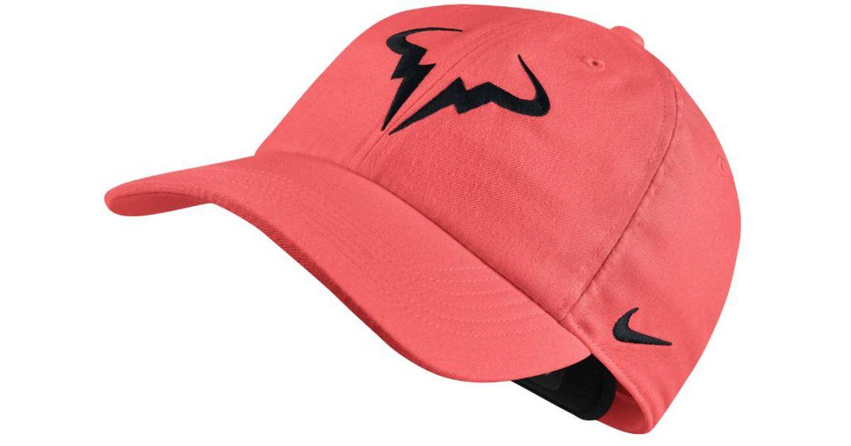 de3600d495b65 Nike Court Aerobill H86 Rafael Nadal Adjustable Tennis Hat (pink) in Pink  for Men - Lyst