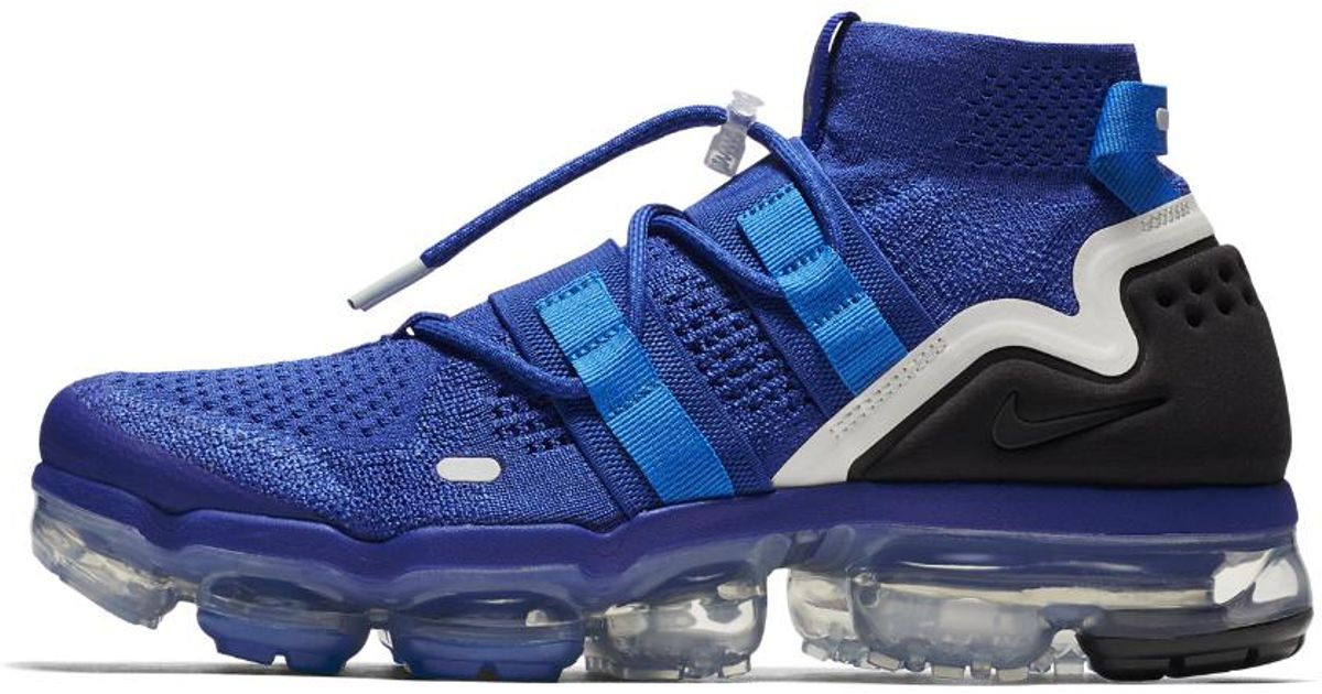 0622de08f46c Lyst - Nike Air Vapormax Flyknit Utility Running Shoe in Blue for Men