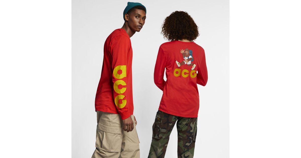 856e8e13 Nike Sportswear Acg Long-sleeve T-shirt in Red for Men - Lyst