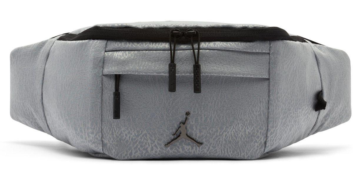 64e9ab99de8 Nike Jordan Jumpman Air Crossbody Bag in Gray - Lyst