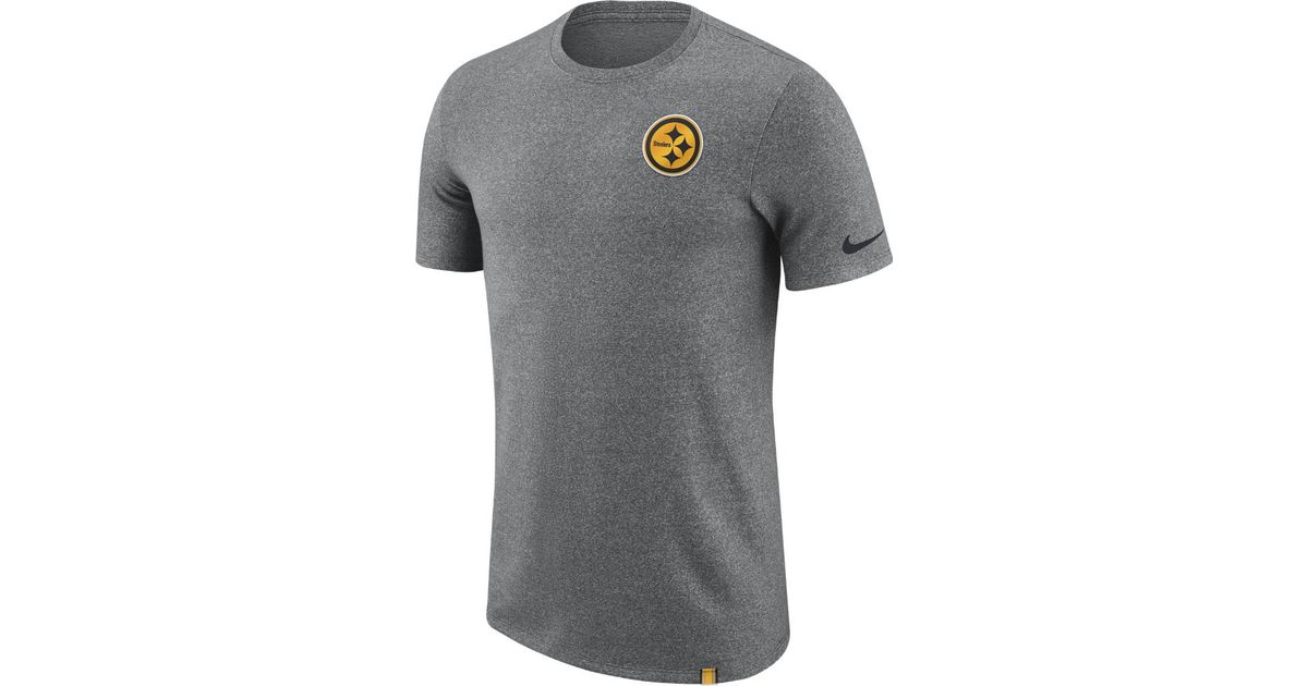 2d02d33fbbb Lyst - Nike Dry Marled Patch (nfl Steelers) Men's T-shirt in Gray for Men