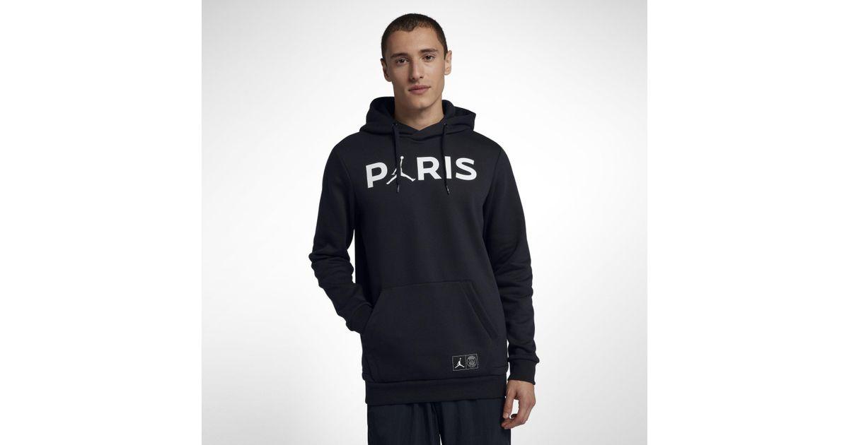 978aa23989c Nike Paris Saint-germain Jumpman Pullover Hoodie in Black for Men - Lyst