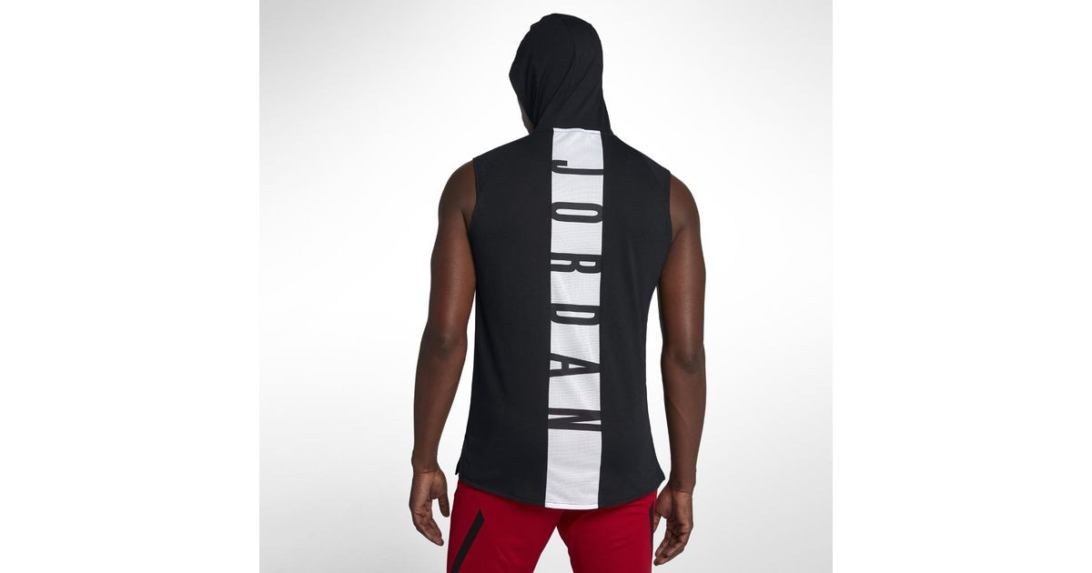 a9d4b486e Nike 23 Alpha Men's Hooded Sleeveless Training Top, By Nike in Black for Men  - Lyst