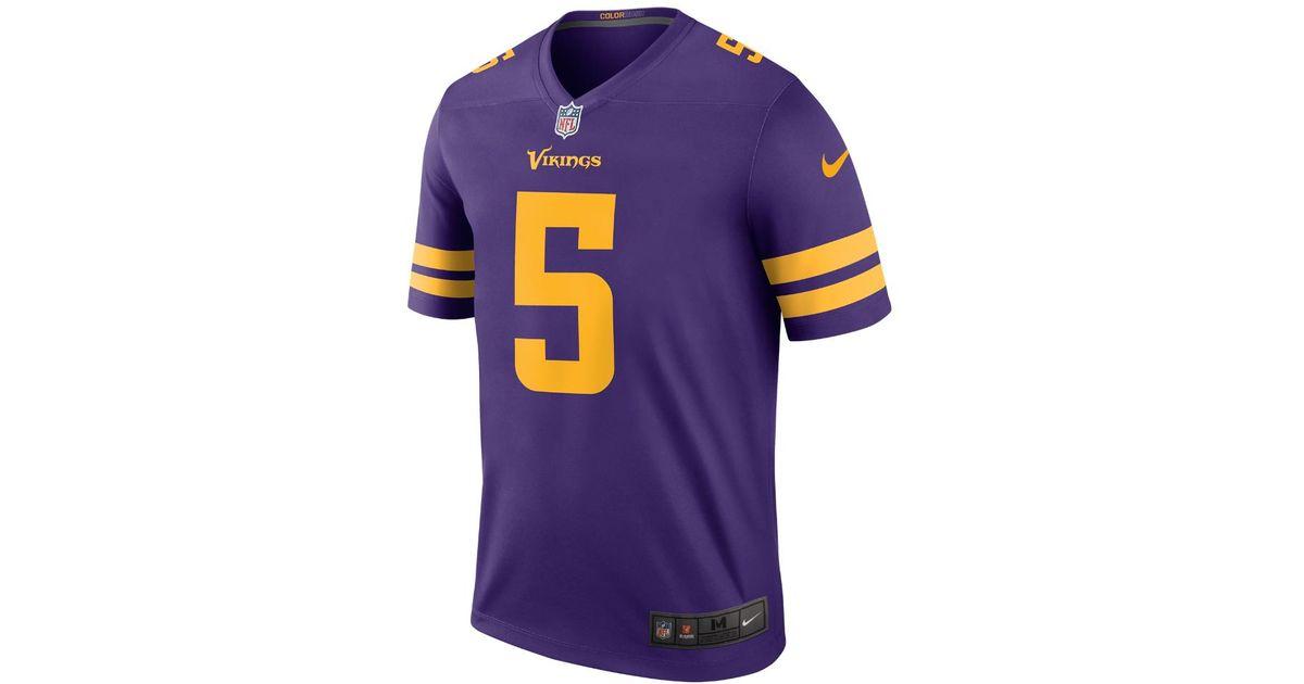 Lyst - Nike Nfl Minnesota Vikings Color Rush Legend (teddy Bridgewater) Men s  Football Jersey in Purple for Men 62cb28bbd