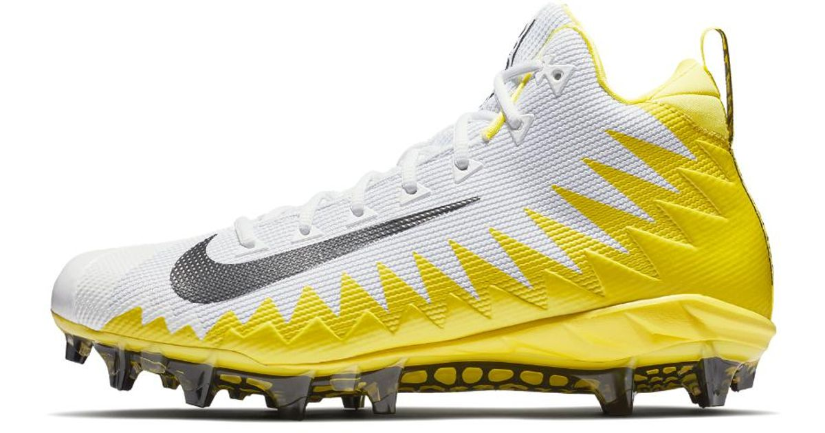 Lyst - Nike Alpha Menace Pro Mid Men s Football Cleat in Yellow for Men 3979f61a5