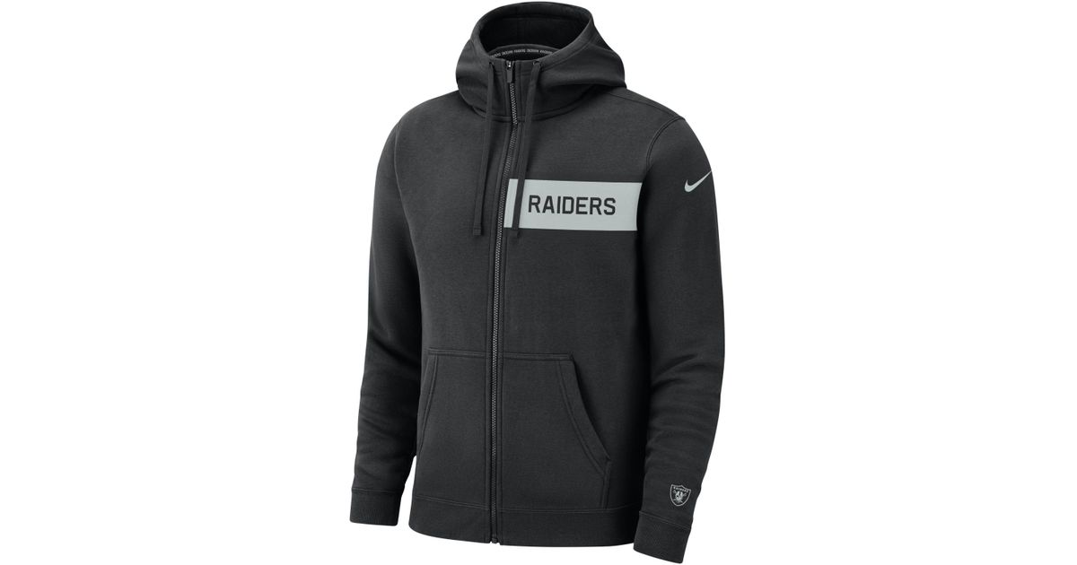 best website c130b e4bb3 Nike Black (nfl Raiders) Club Fleece Full-zip Hoodie for men