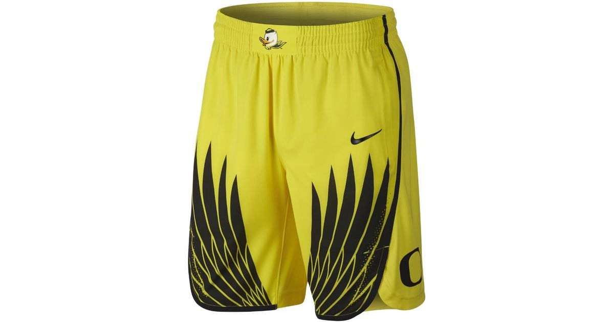 ec922ae21538 Lyst Nike College Authentic Oregon Men S Basketball Shorts In