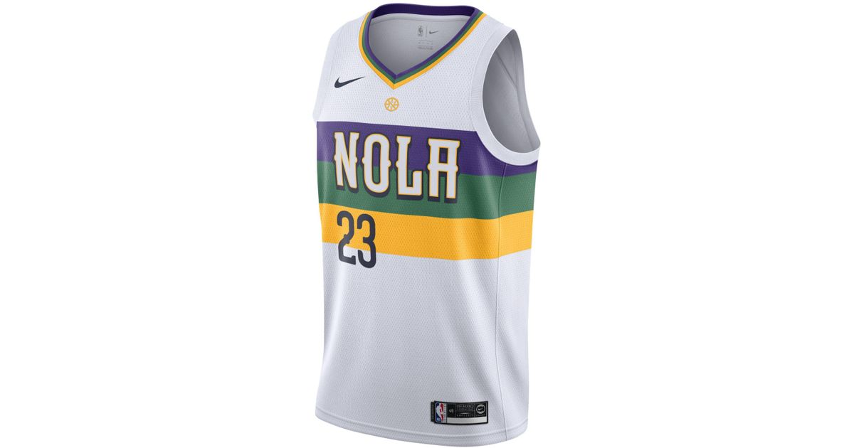cf75c339ef92 Nike Anthony Davis (nba) City Edition Swingman (new Orleans Pelicans) Nba  Connected Jersey in White for Men - Lyst