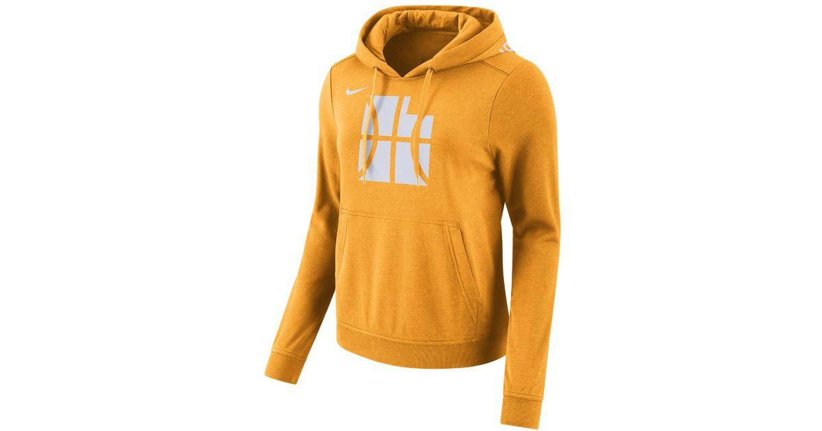 low priced 44cfd 27c11 Nike Orange Utah Jazz City Edition Women's Nba Hoodie
