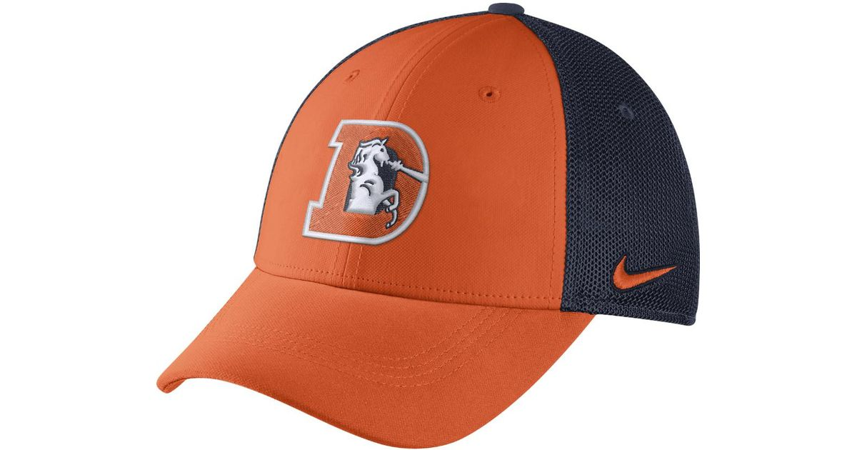 brand new 07c86 f055f Nike Orange Color Rush Swoosh Flex (nfl Broncos) Fitted Hat for men