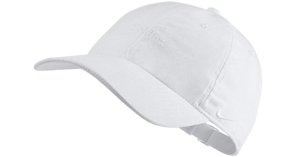 1e8aaa71c Nike Lebron Heritage 86 Adjustable Hat (white) for men