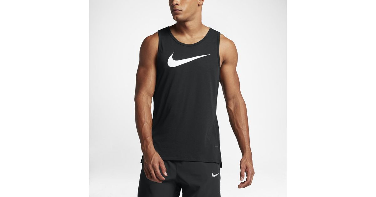 1baac25d Nike Dry Elite Men's Basketball Tank in Black for Men - Lyst