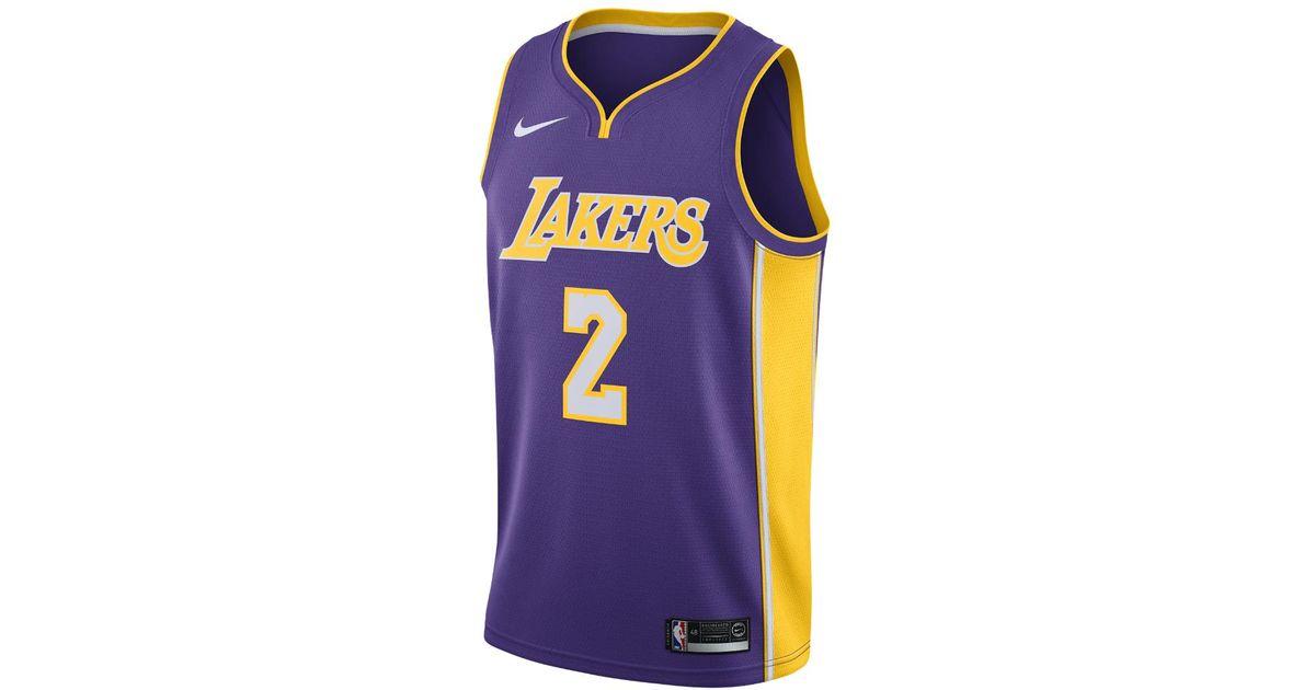 8b319f832b6 Lyst - Nike Lonzo Ball Icon Edition Swingman Jersey (los Angeles Lakers) Men s  Nba Connected Jersey in Purple for Men