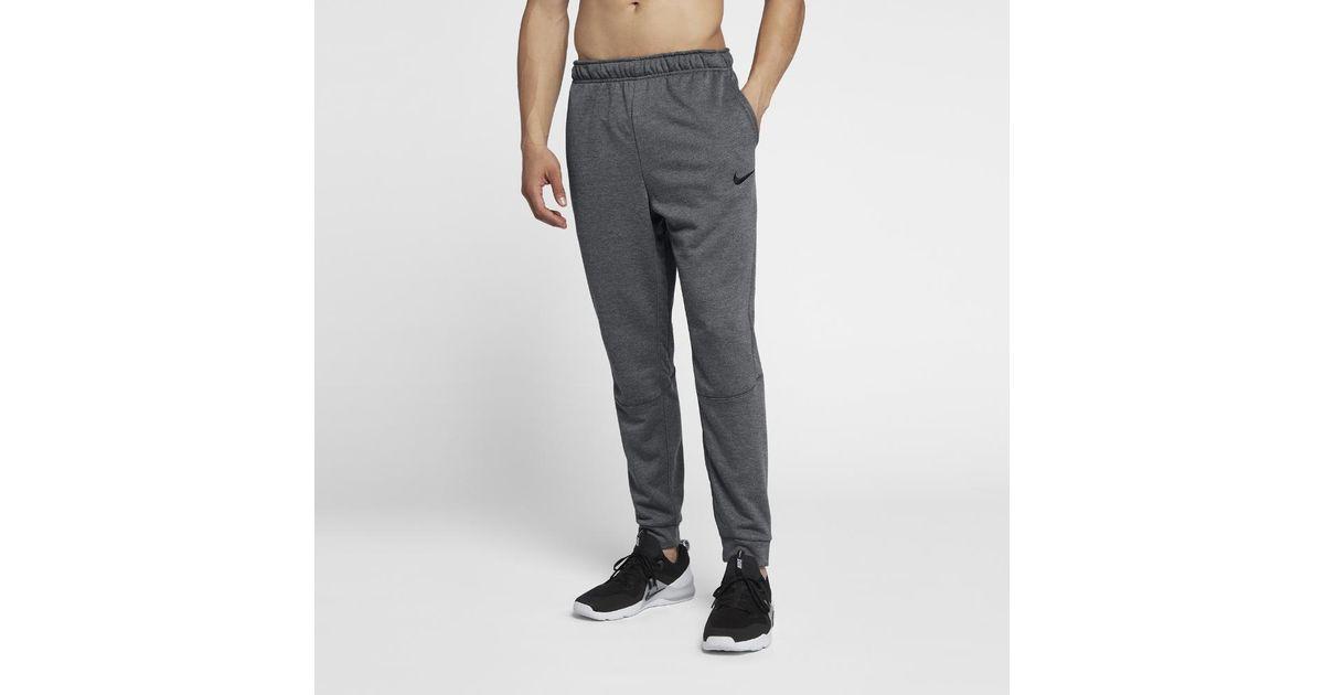 Nike Gray Dri fit Men's Fleece Training Pants for men