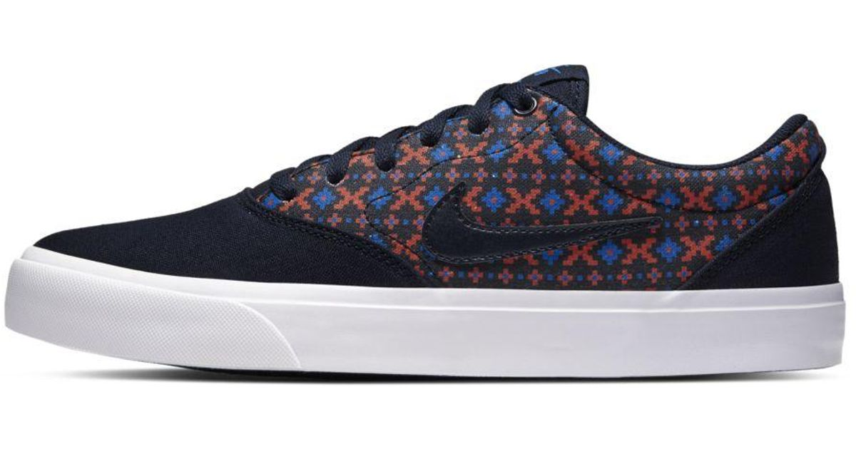Nike Canvas Sb Charge Premium Skate Shoe in Blue for Men - Lyst
