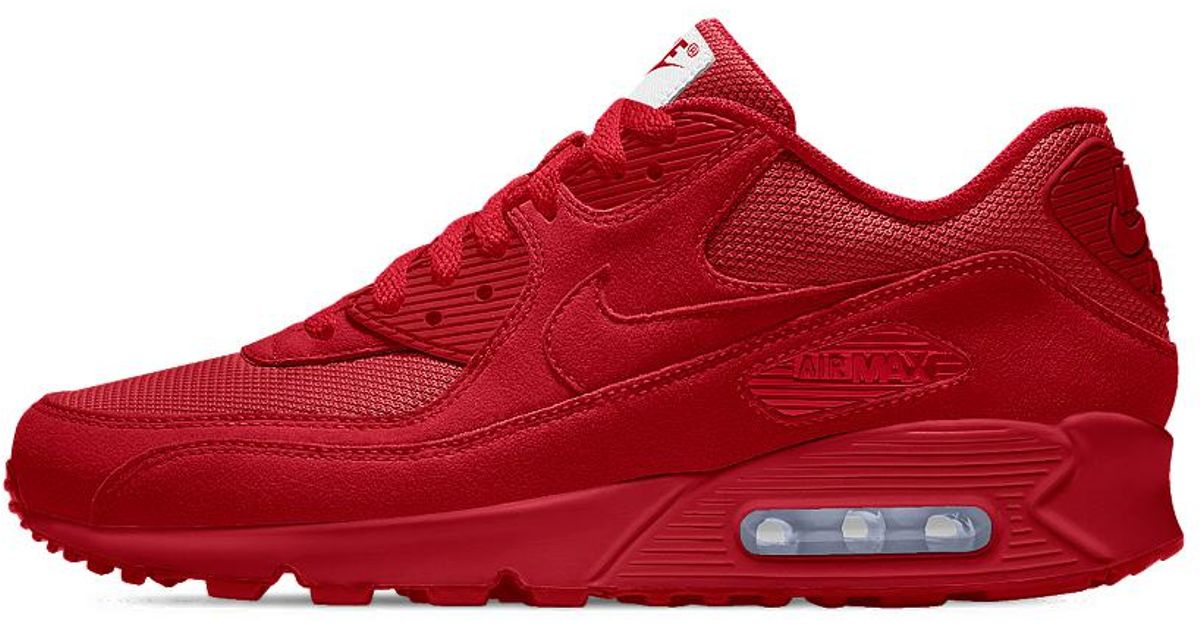 reputable site 9d461 7a41a Essential Id Men s Nike Men Shoe In Red Air Max Lyst For 90 wO8nP0k