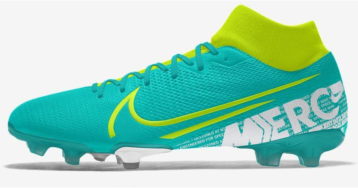 more photos a92a4 71f65 Nike Green Mercurial Superfly 7 Academy Fg/mg By You Custom Multi-ground  Soccer Cleat