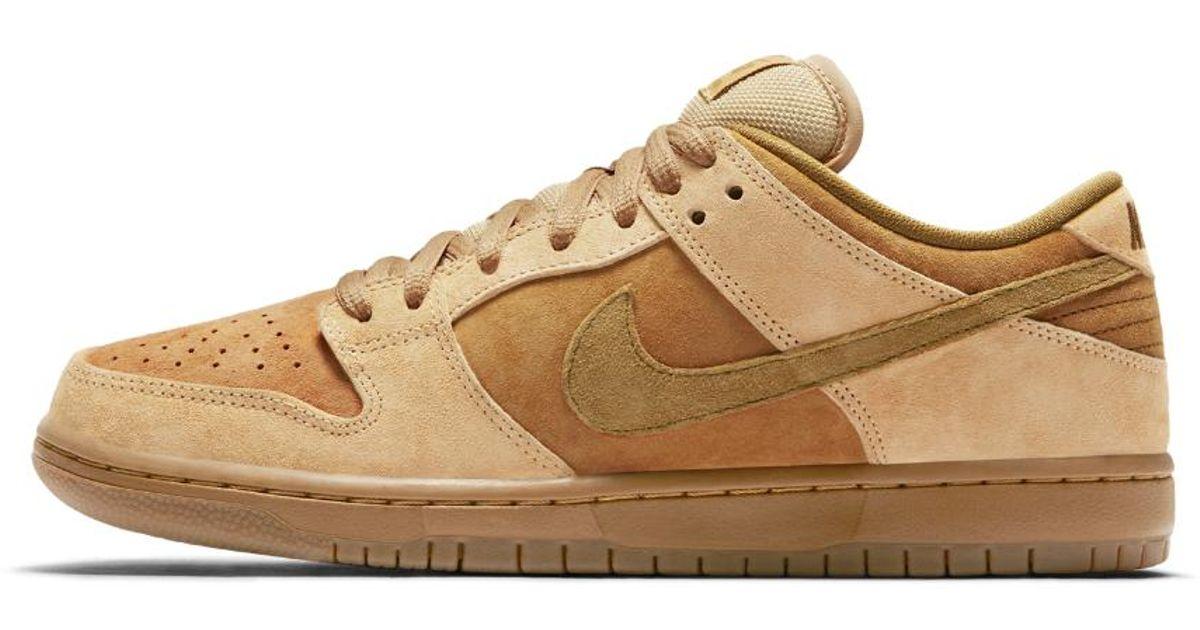 Lyst - Nike Sb Dunk Low Pro  wheat  Men s Skateboarding Shoe in Brown for  Men a18b305d2e8c