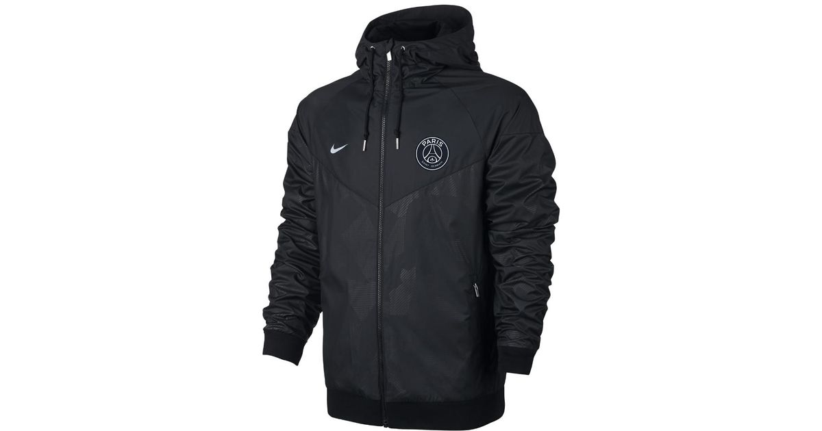 c2a66d17a016 Lyst - Nike Paris Saint-germain Authentic Windrunner Men s Jacket in Black  for Men