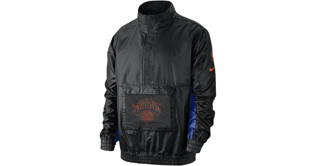 Nike New York Knicks leichte NBA Jacke für in Black für Herren