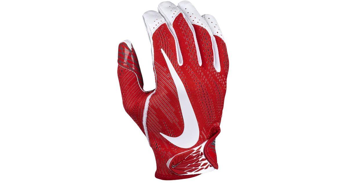 c399511a012 Lyst - Nike Vapor Knit Men s Football Gloves in Red for Men