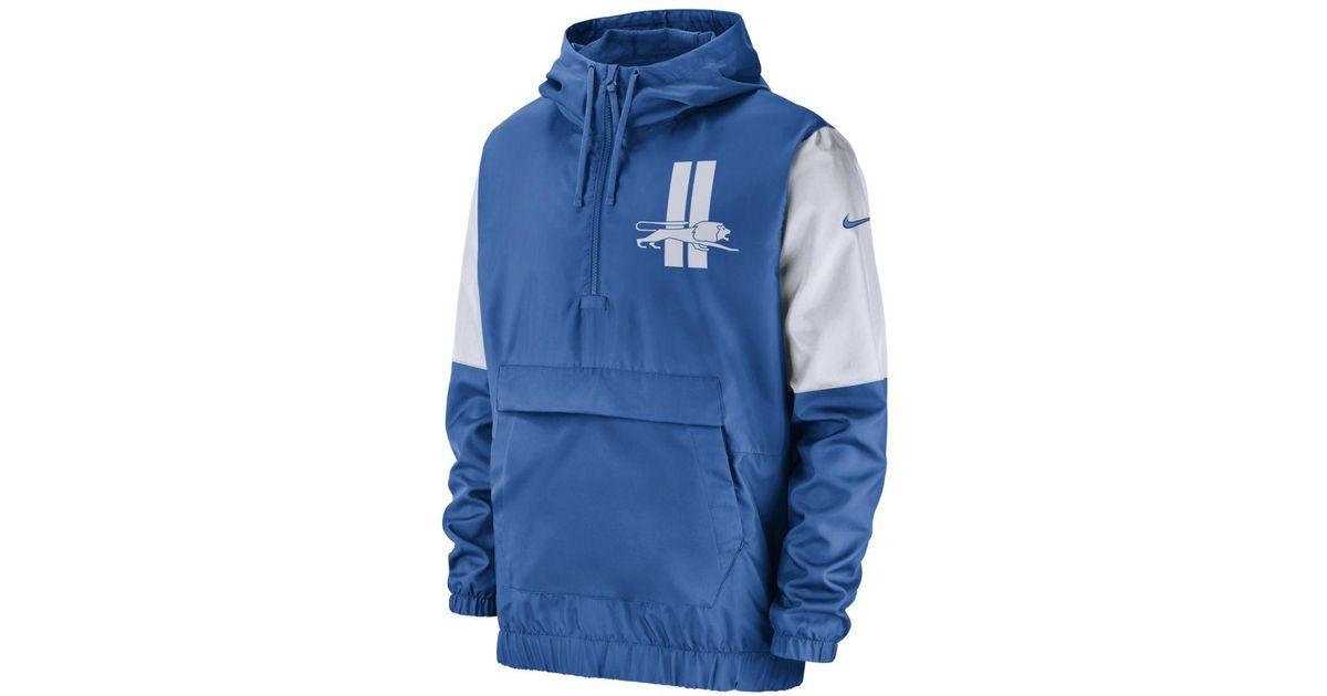 various colors 67a71 d5617 Nike Blue Anorak (nfl Lions) Jacket for men