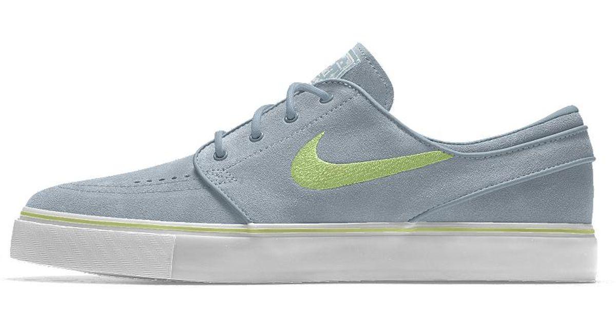 undefeated x promo code a few days away Nike Blue Sb Zoom Stefan Janoski Id Women's Skateboarding Shoe for men