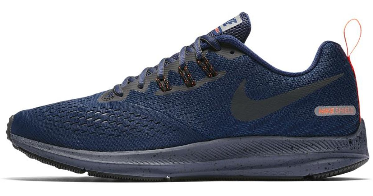 dd4688215f462 Lyst - Nike Air Zoom Winflo 4 Shield Men s Running Shoe in Blue for Men