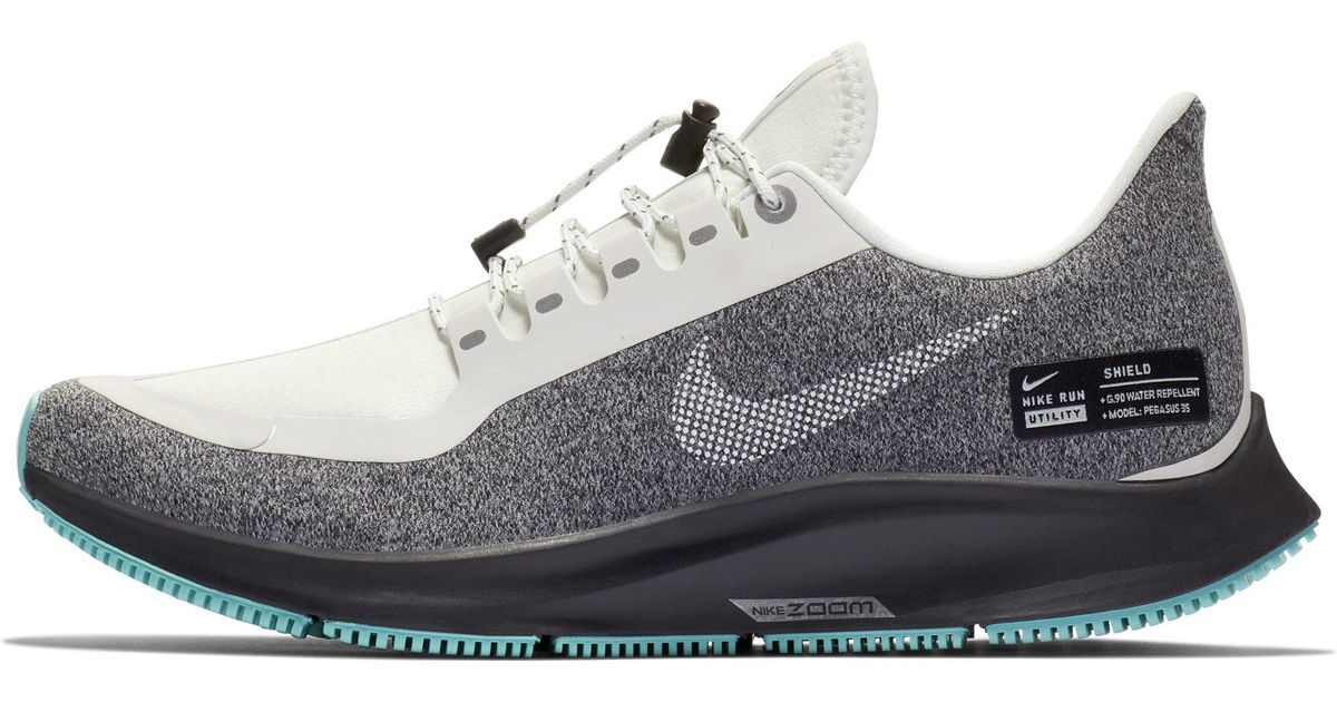 557f5d9ae4135 Nike Air Zoom Pegasus 35 Shield Water-repellent Running Shoe in White - Lyst
