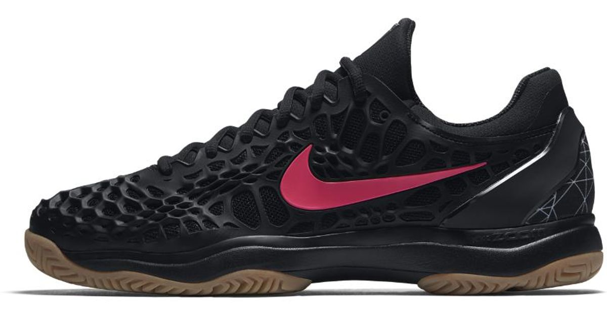 2dd3a5ceef7 Nike Black Air Zoom Cage 3 Hard Court Men's Tennis Shoe for men