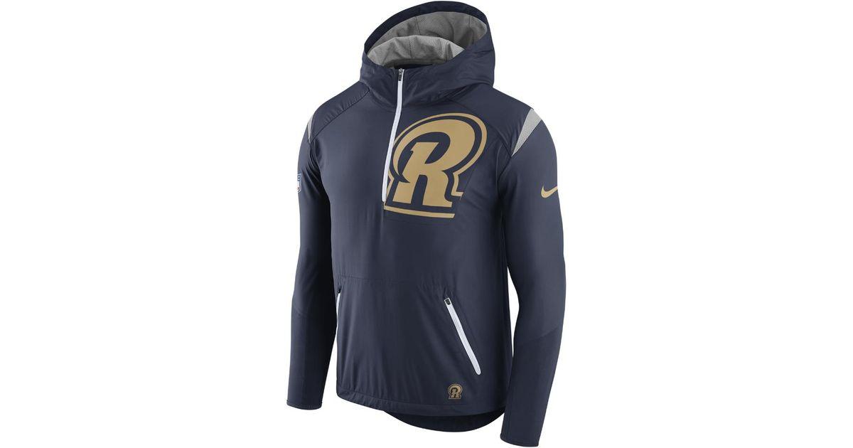 huge selection of 1f480 25c66 Nike Blue Lightweight Fly Rush (nfl Rams) Men's Jacket for men