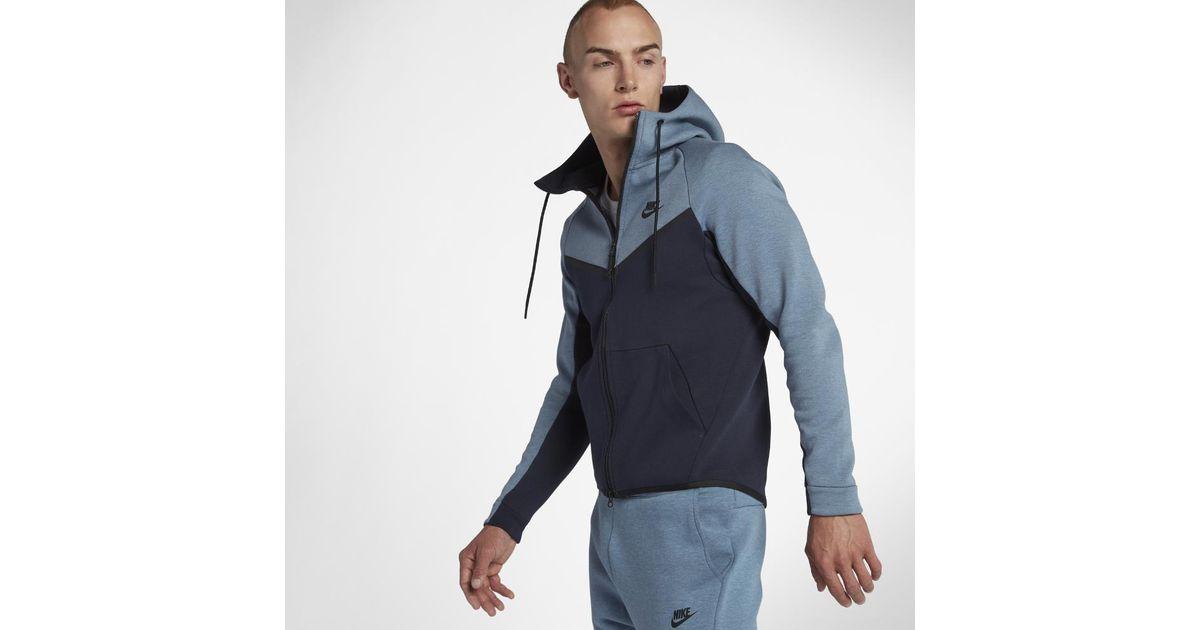 9e8e033430 Lyst - Nike Sportswear Tech Fleece Windrunner Men s Full-zip Hoodie in Blue  for Men