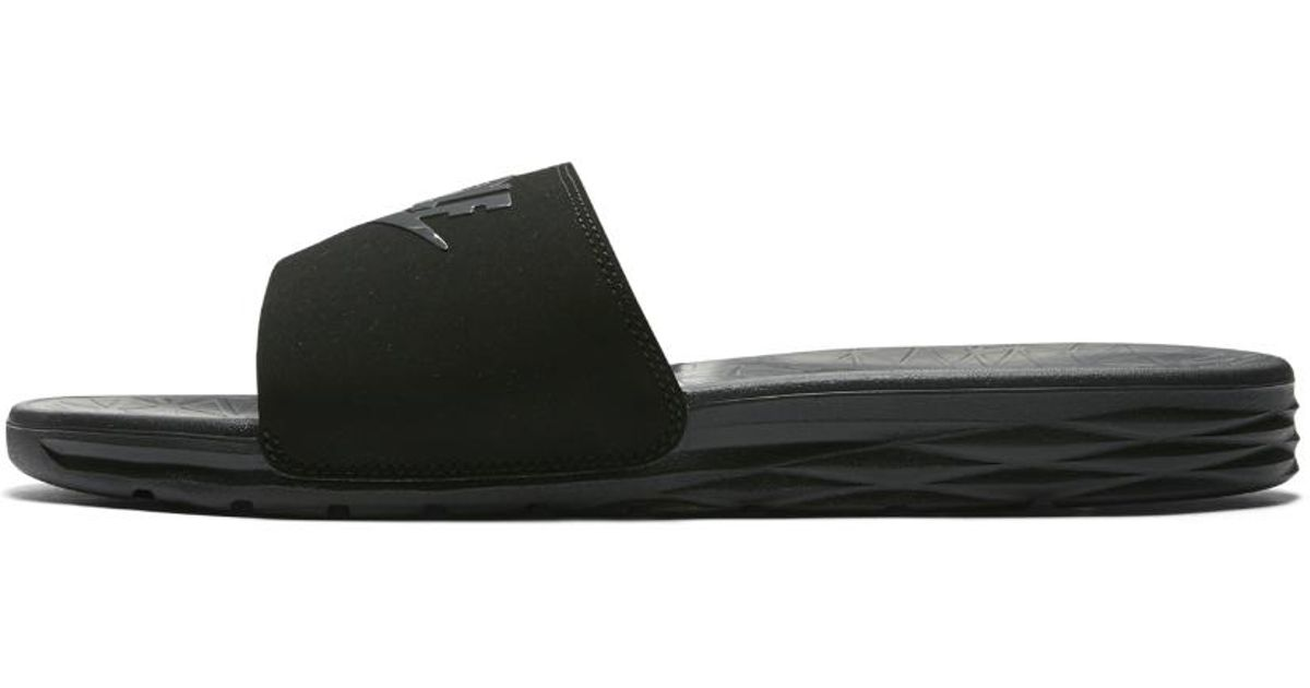 0dbfda2c2fc135 Lyst - Nike Benassi Solarsoft 2 Men s Golf Slide in Black for Men