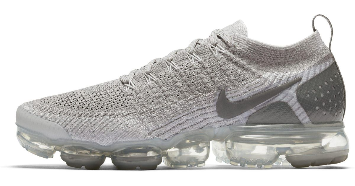 best sneakers a3920 e1521 Nike Gray Air Vapormax Flyknit 2 Lizard Shoe for men
