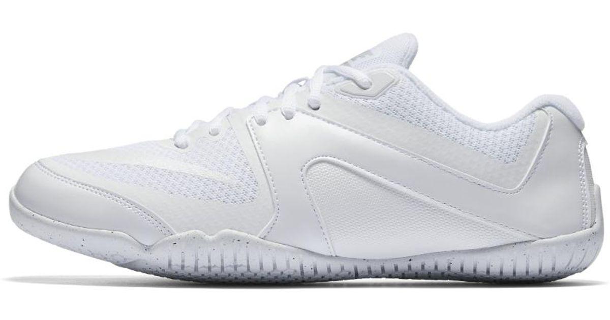 big sale 92f51 fef01 Nike Cheer Scorpion Women s Cheerleading Shoe in White - Lyst