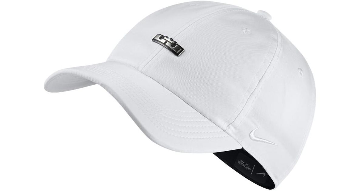 ce91917369e Lyst - Nike Lebron Heritage 86 Qs Adjustable Hat (white) in White for Men