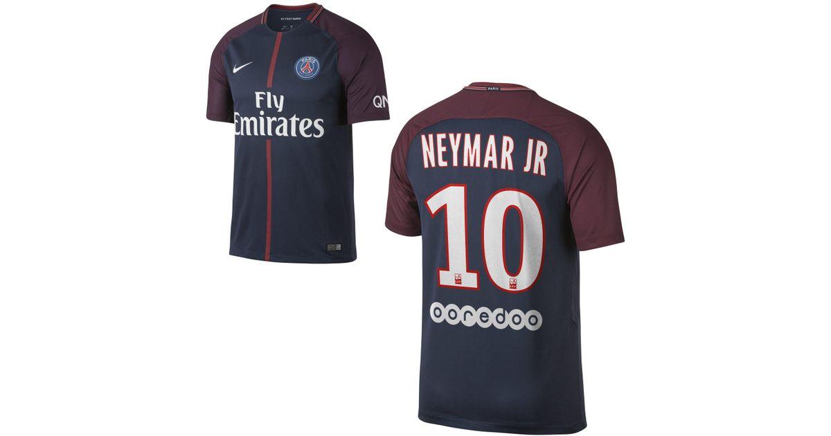 on sale f775d b42e0 Nike Blue 2017/18 Paris Saint-germain Stadium Home (neymar Jr.) Football  Shirt for men