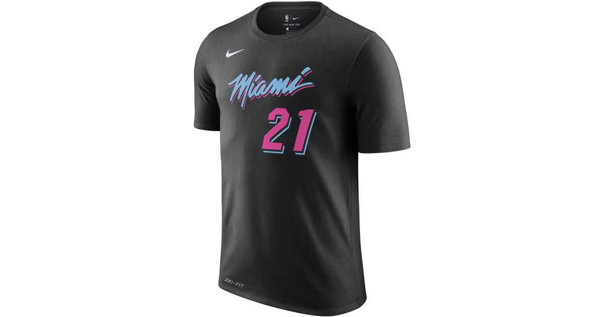 super popular 60b80 32de2 Nike Black Hassan Whiteside Miami Heat City Edition Dri-fit Nba T-shirt for  men