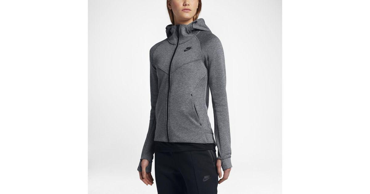 38b073c24 Nike Black Sportswear Tech Fleece Women's Full-zip Hoodie