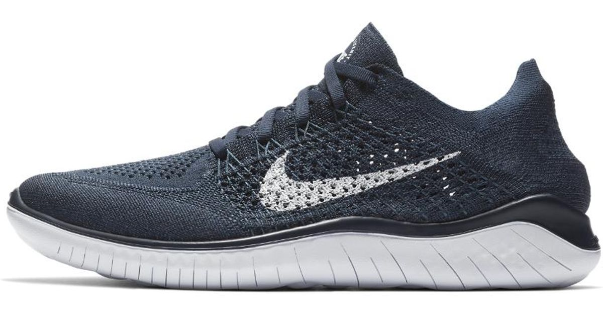 47ab2f01ea736 ... new zealand lyst nike free rn flyknit 2018 mens running shoe in blue  for men f9cf5