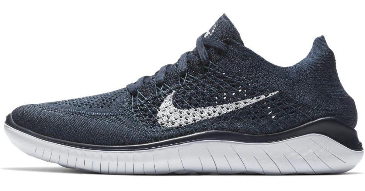 4f228afcae16 Lyst - Nike Free Rn Flyknit 2018 Men s Running Shoe in Blue for Men