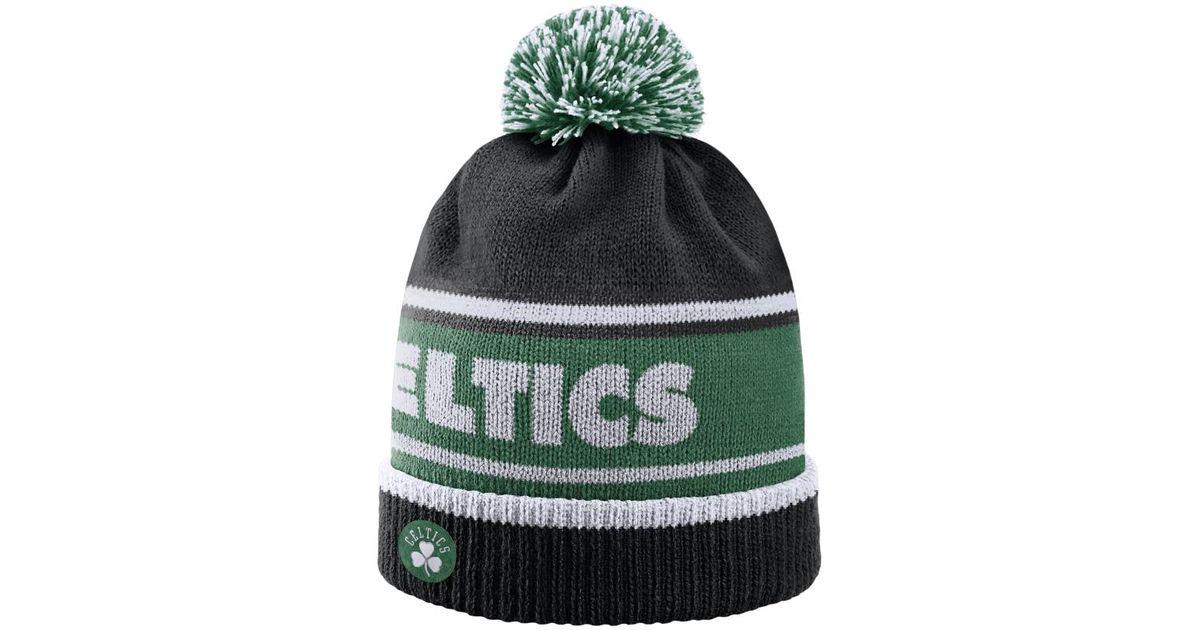 10305ff7fcc ... pom canada lyst nike boston celtics nba beanie black in green for men  a7439 d3039 ...