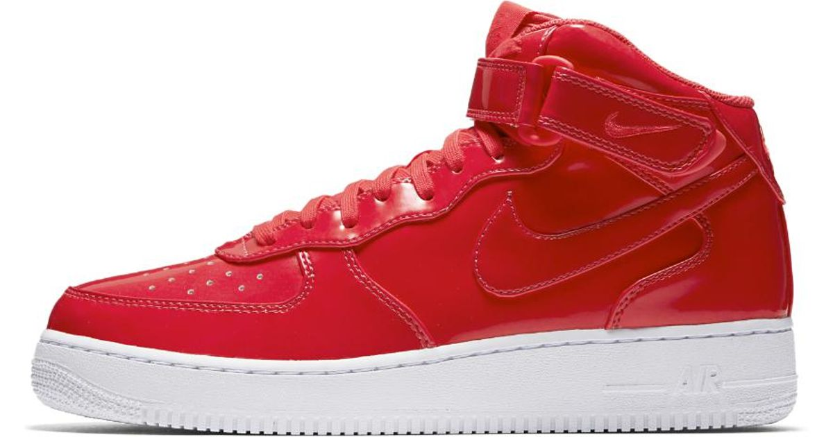 the latest 35e66 fbe28 Lyst - Nike Air Force 1 Mid 07 Lv8 Uv Mens Shoe in Red for M