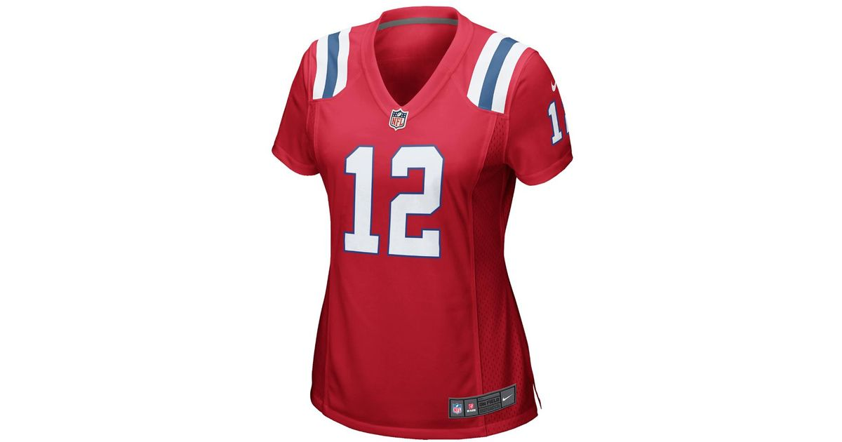 1719aa41 Nike - Red Nfl New England Patriots (tom Brady) Women's Football Alternate  Game Jersey - Lyst
