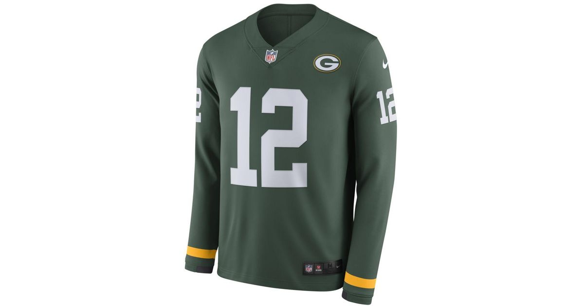 hot sale online a80f9 cc098 Nike - Nfl Green Bay Packers Jersey (aaron Rodgers) Long-sleeve Football  Jersey for Men - Lyst