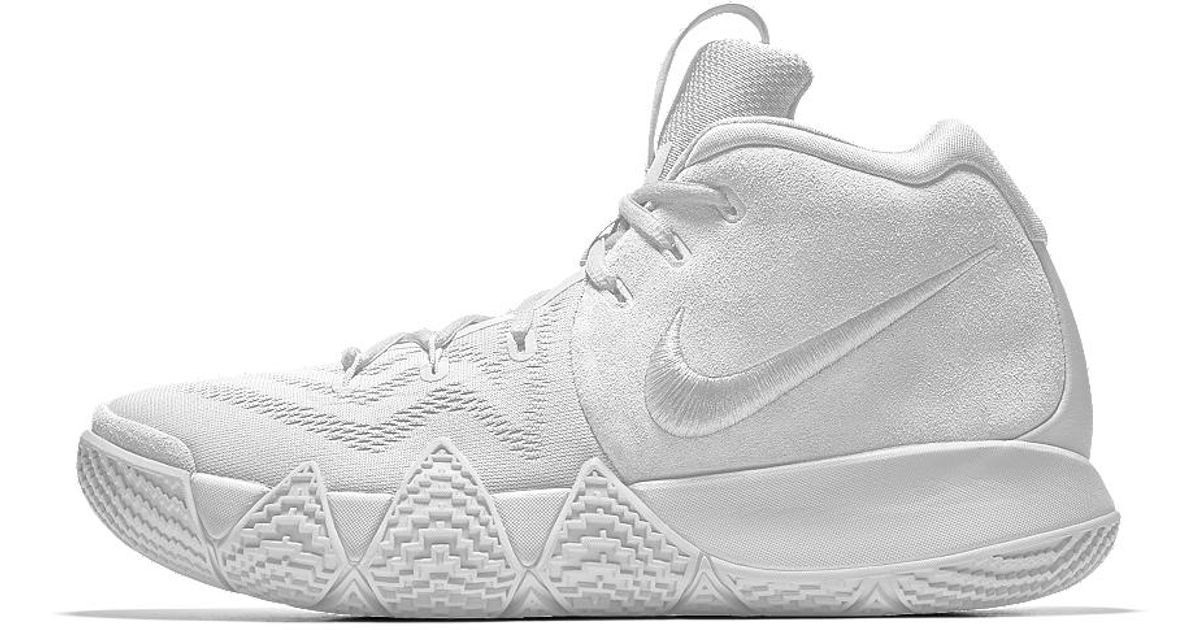 watch 6bfda 06e50 Nike White Kyrie 4 Id Men's Basketball Shoe for men