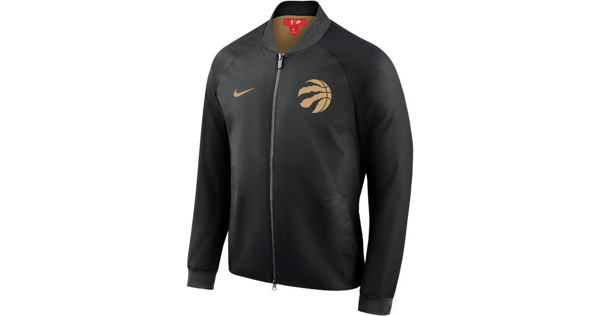 outlet store c6d32 8d0dd Nike Black Toronto Raptors City Edition Modern Men's Nba Varsity Jacket for  men