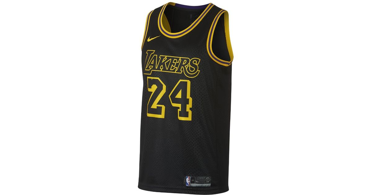 Nike Kobe Bryant City Edition Swingman Jersey (los Angeles Lakers ...